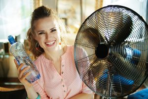 Staying cool in a summer heat wave
